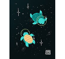 Space Turtles Photographic Print