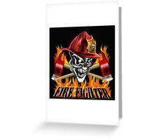 Fireman Skull Greeting Card