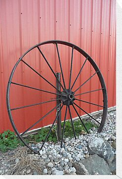 Vintage Wagon Wheel by Melissa McKenzie