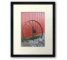 Vintage Wagon Wheel Framed Print