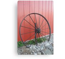 Vintage Wagon Wheel Metal Print