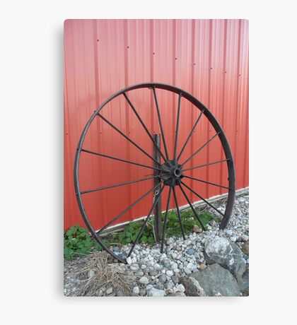 Vintage Wagon Wheel Canvas Print