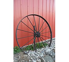 Vintage Wagon Wheel Photographic Print