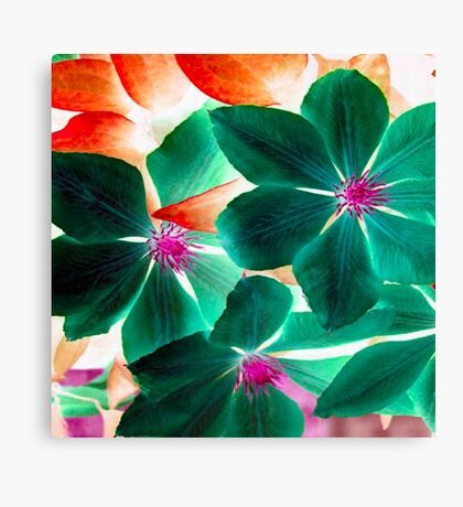 MSFW15- DAYS OF SUMMER- GREEN FLORALS/FLOWERS Canvas Print