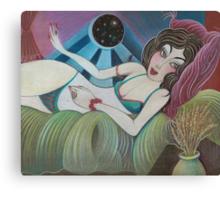 Chantal by Window Canvas Print