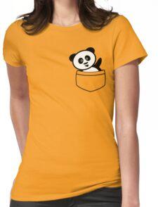Pocket panda Womens Fitted T-Shirt