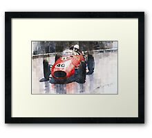 Ferrari Dino 246 F1 Monaco GP 1958 Wolfgang von Trips Framed Print