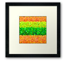 Sparkle and Glitter Orange and Green Framed Print