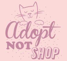 Adopt not SHOP (kitten cat) One Piece - Short Sleeve