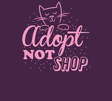 Adopt not SHOP (kitten cat) Womens Fitted T-Shirt