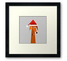 Dachshund Ready For Christmas  Framed Print