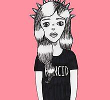Molly - Pop Art Girl Portrait Print by feraldoe