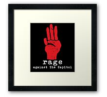 Rage Against The Capitol Framed Print