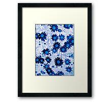 Mystical Daisies In Blue Framed Print
