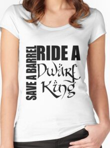Save a Barrel, Ride a Dwarf King Women's Fitted Scoop T-Shirt