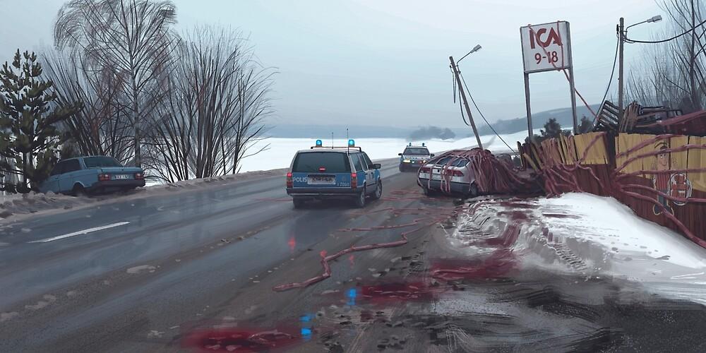 The Ica Incident by Simon Stålenhag