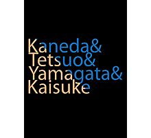 The Capsules Helvetica (Akira) Photographic Print