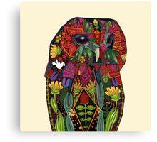 tawny owl cream Canvas Print