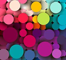 Colorful abstract geometric background with a mosaic effect with different diameter circles by smotrivnebo