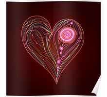 Abstract vector heart Poster