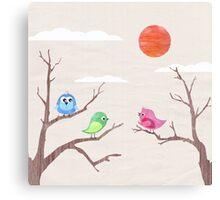 Happy Little Birds Canvas Print