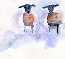 Two sheep by Simon Rudd