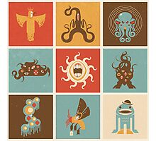 The Lovecraftian Squares Photographic Print