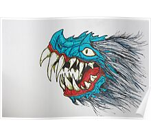 blue dragon Poster