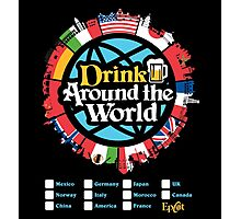 Drink Around the World - EPCOT Checklist v1 Photographic Print
