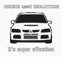 Mitsubishi Evo used Evolution It was Super Effective! Pokemon Gag Sticker / Tee - White Kids Tee
