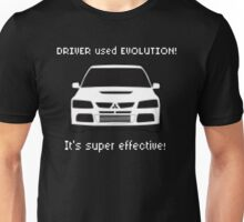 Mitsubishi Evo used Evolution It was Super Effective! Pokemon Gag Sticker / Tee - White Unisex T-Shirt