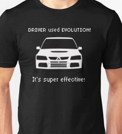 Mitsubishi Evo used Evolution It was Super Effective! Pokemon Gag Sticker / Tee - White Unisex T-Shirt