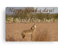 Coyote Howl-A-Day Card Canvas Print