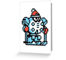 blizzard man Greeting Card