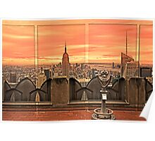 New York City Sunset View Poster