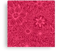 Seamless texture with flowers Canvas Print