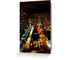Night San Diego Part 1 Greeting Card