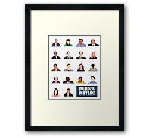 Dunder Mifflin Employee Headshots Framed Print