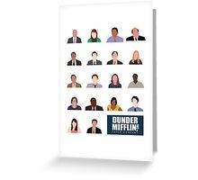 Dunder Mifflin Employee Headshots Greeting Card