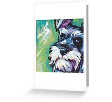 Schnauzer Bright colorful pop dog art Greeting Card