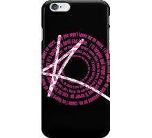 Better the devil you know lyric tee iPhone Case/Skin