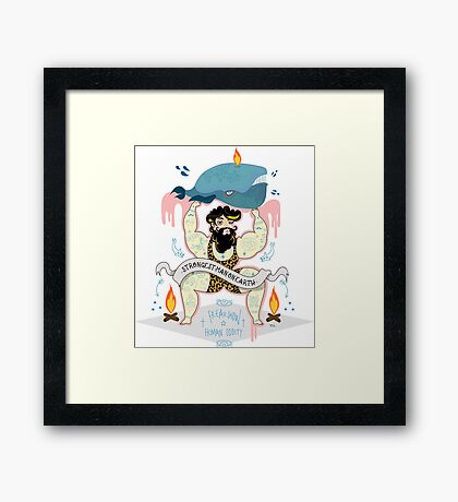 strongest man on earth  Framed Print