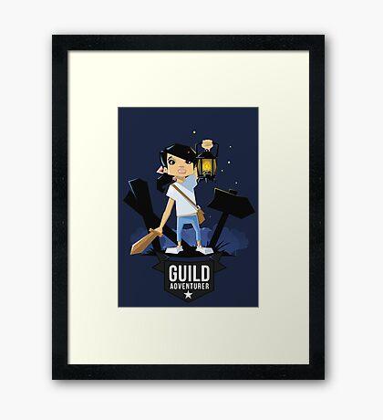 Girl Adventurer Framed Print