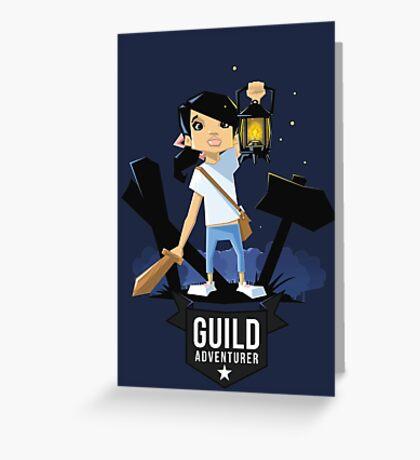 Girl Adventurer Greeting Card