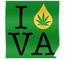 I Dab VA (Virginia) Weed Poster