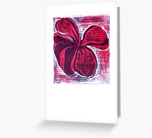 red hibiscus artprint  Greeting Card