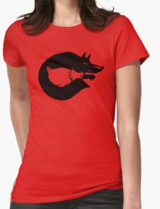 The Fox And Chicken. Womens Fitted T-Shirt