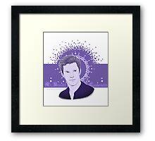 Benedict Cumberbatch - Sexy purple Framed Print