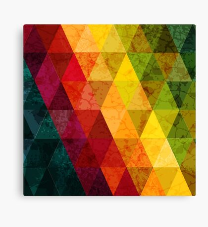 Colorful abstract geometric background with triangular polygons. Canvas Print