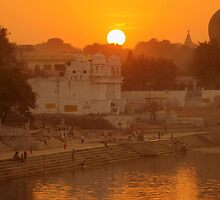 Holy Lake of Pushkar by Brian Bo Mei